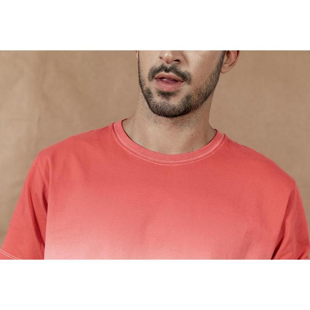 Dye out contrast t-shirt for summer