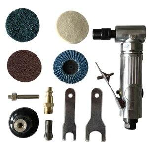 1/4 polegada ângulo de ar morrer moedor 90 graus máquina de moagem pneumática cortar polisher moinho gravura ferramenta conjunto com chave inglesa