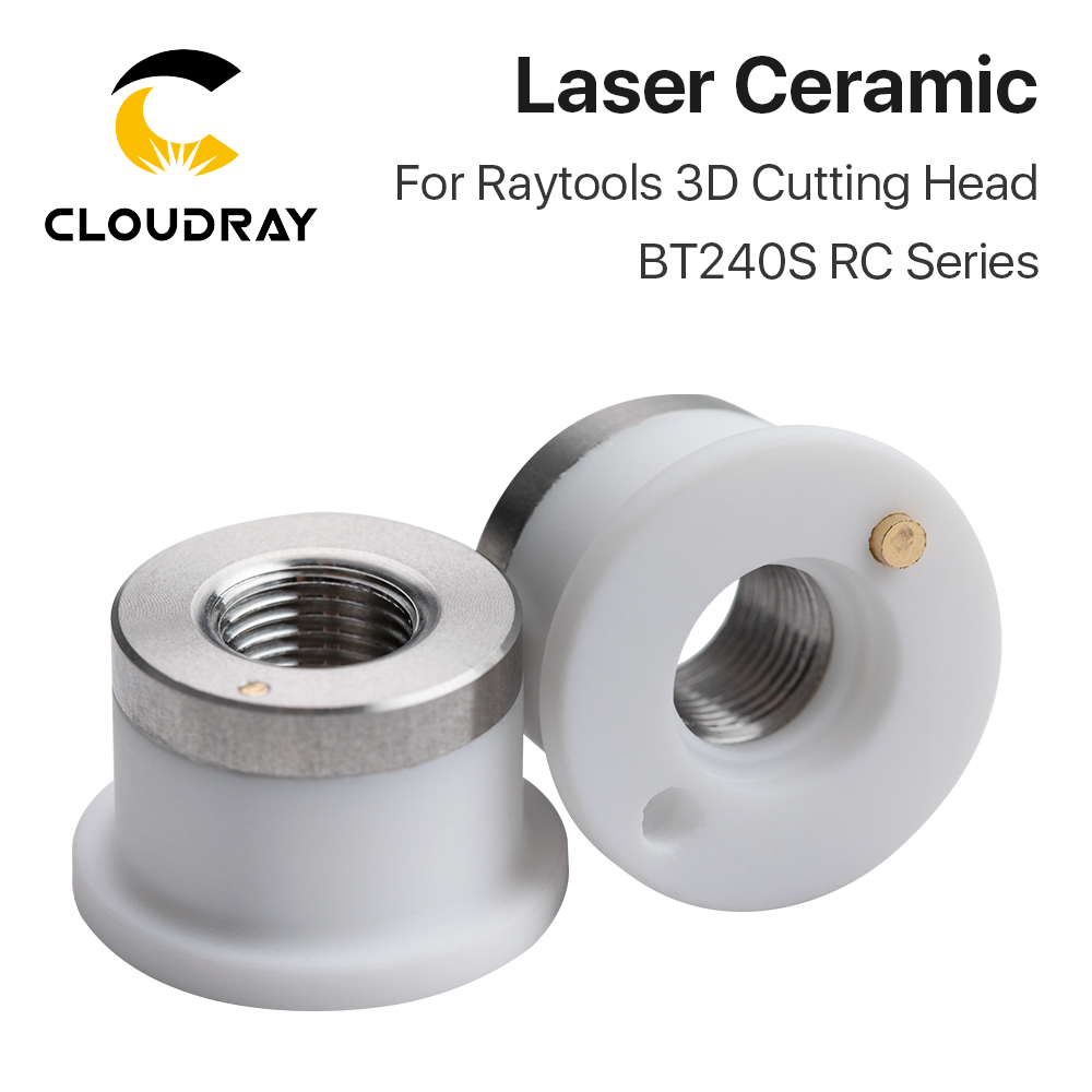 Cloudray Laser Ceramic Of BT240S RC Series Dia.19.5mm Nozzle Holder For Raytools 3D Fiber Laser Cutting Head