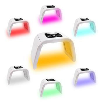 Professional 7 Colors PDT Led Mask Facial Light Therapy Skin Rejuvenation Device Spa Acne Remover Anti-Wrinkle BeautyTreatment pdt photon led facial mask skin rejuvenation wrinkle removal electric device anti aging mask therapy beauty machine