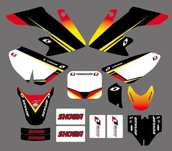 Moto equipo de gráficos y fondos etiqueta pegatinas Kits para Honda CRF50 CRF50F estilo pozo de la bici de la suciedad (amarillo/blanco) Pegatina Moto