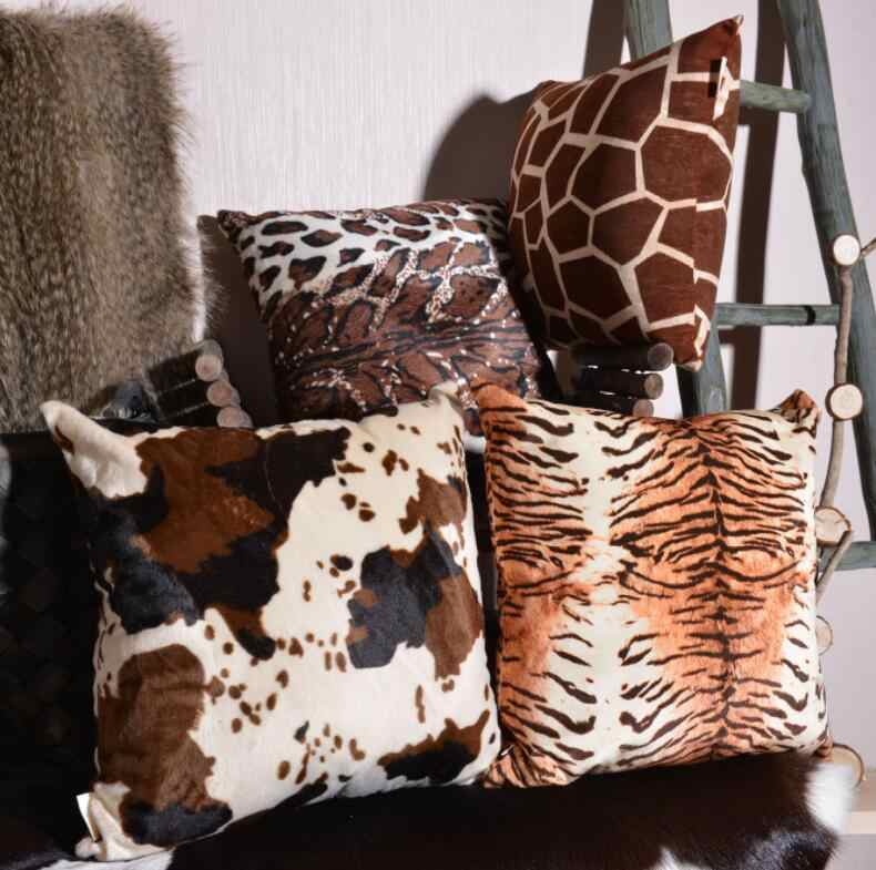 Nordic Home Decorative Cushion Covers Animal Skin Pattern Tiger Cow Leopard Soft Fleece Faux Fur Cushion Cover Throw Pillow Case Cushion Cover Aliexpress