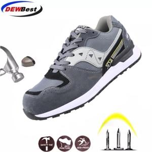 Image 1 - DEWBEST Mens Safety Shoes Steel Toe Construction Protective Footwear Lightweight 3D Shockproof Work Sneaker Shoes For Men