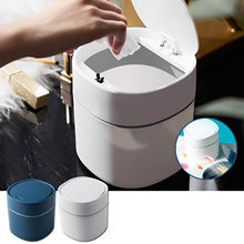 40 # mini desktops criativo coberto cozinha sala de estar ferramentas lixo pode jogar capa design resíduos caixas escritório diversos papel lixo
