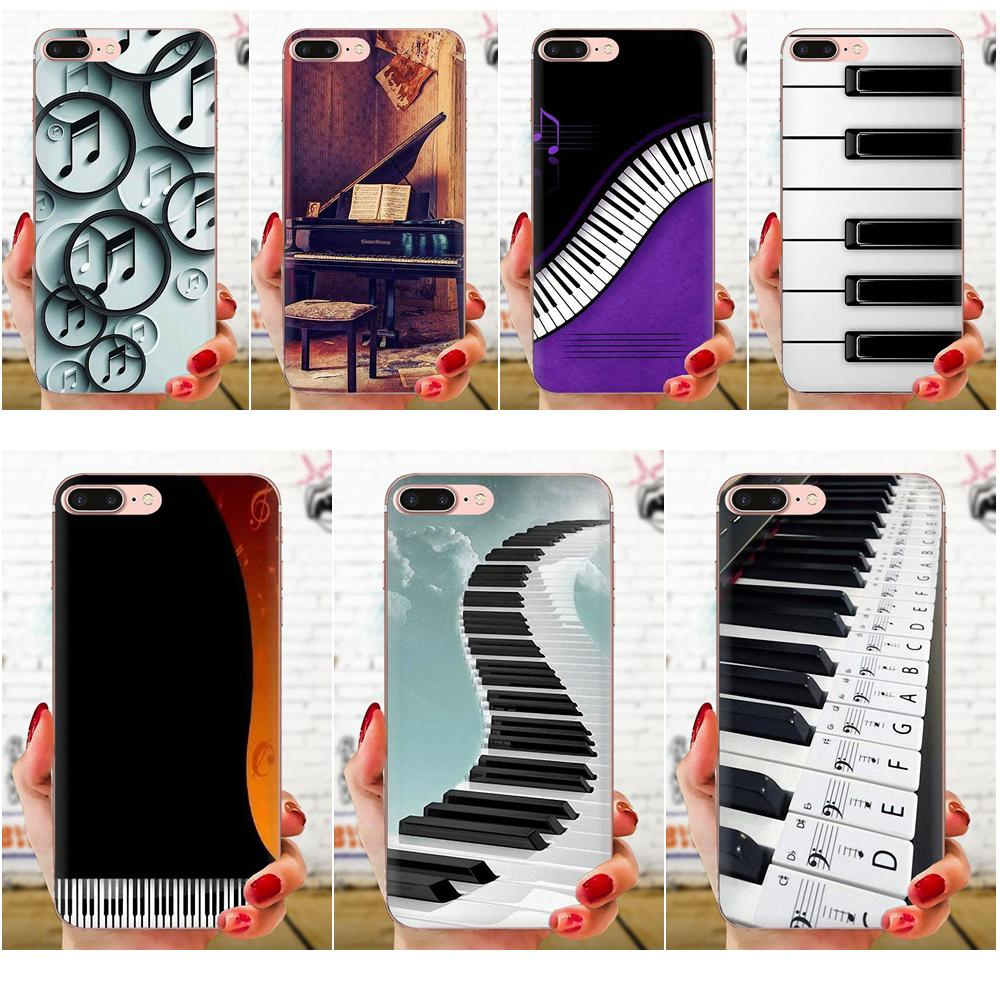 Soft Fashion <font><b>Case</b></font> Cover Piano Music For Galaxy Grand A3 A5 A7 A8 A9 A9S On5 On7 Plus Pro Star 2015 2016 2017 2018 image
