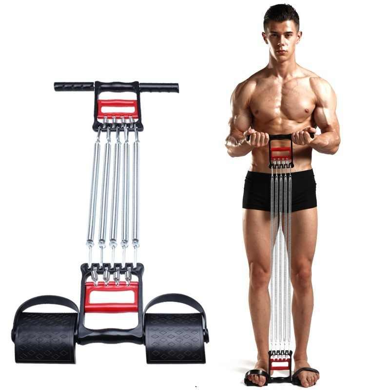 Vintage Saf-Tee Handle Spring Chest Exerciser Gym Equipment Spring Chest Pull