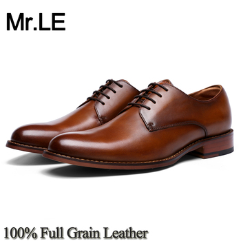 цена на Oxford Shoes Men Real Genuine Leather Original Design Formal Party Wedding Brand Luxury Oxford Derby Men's Casual Shoes Leather
