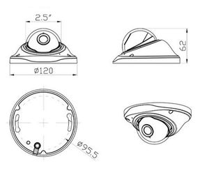 Image 2 - Пластиковый корпус для купольной камеры видеонаблюдения, корпус s для AHD IPC CCD PCB