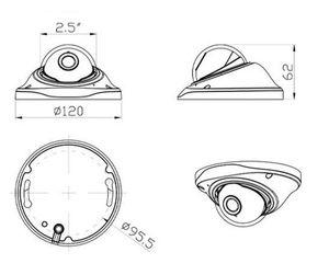Image 2 - 새로운 돔 카메라 주택 AHD IPC CCD pcb에 대 한 플라스틱 CCTV 카메라 하우징
