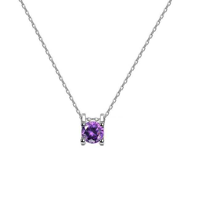 Suga Purple Crystal Jewelry Chain Necklace 3