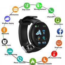 2019 new D18 smart watch heart rate Ip67 waterproof