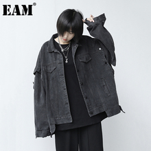 Long-Sleeve Women Coat Denim Jacket Spring Loose Autumn Big-Size Fashion EAM Tide Fit