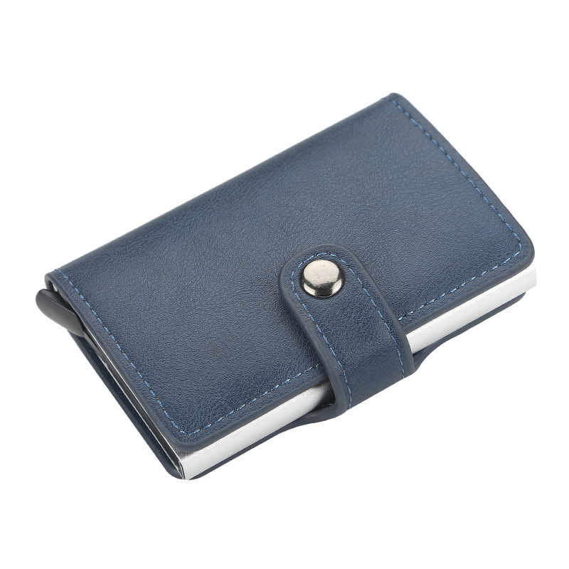 Anti-Theft RFID Bank Credit Card Men Credit Card Holder Leather Bank Card Wallets Business ID Card Holder Male Purse Leather