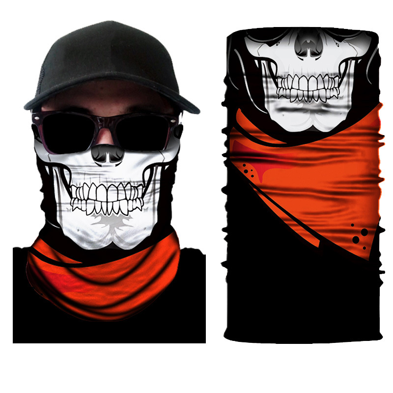 Halloween Personality Skull Clown Party Mouth Face Mask Bicycle Sport Dustproof Sunscreen Multifunctional Bib 3D Magic Headscarf