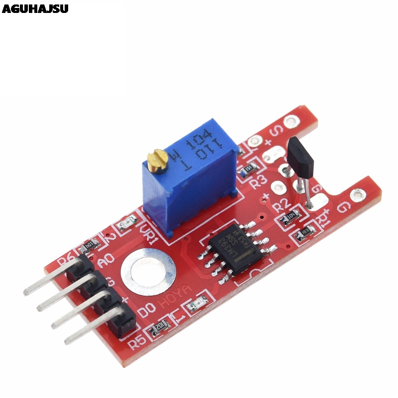 Smart electronics 4pin KY-024 liniowy magnetyczny Hall przełączniki szybkości liczenia moduł czujnika dla arduino DIY zestaw