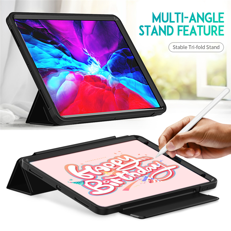 Full Protection Case For apple iPad Pro 12 9 2020 Kids Safe Shockproof Heavy Duty TPU