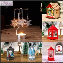 FENGRISE Christmas Metal Spinning Windmill Candlestick Merry Decoration For Home 2019 Ornaments Xmas Gifts