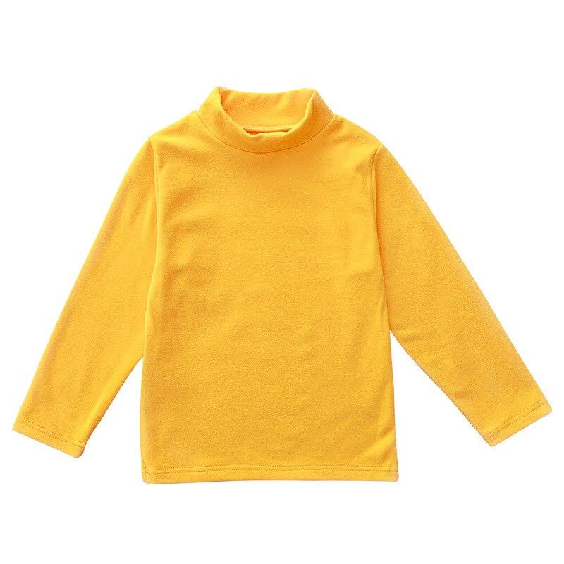 Solid Boys T-Shirts Autumn Long Sleeve Turtleneck High Collar Tee Shirts Warmer Girls Bottoming Shirt Kids Top underwear 2-16Y 5