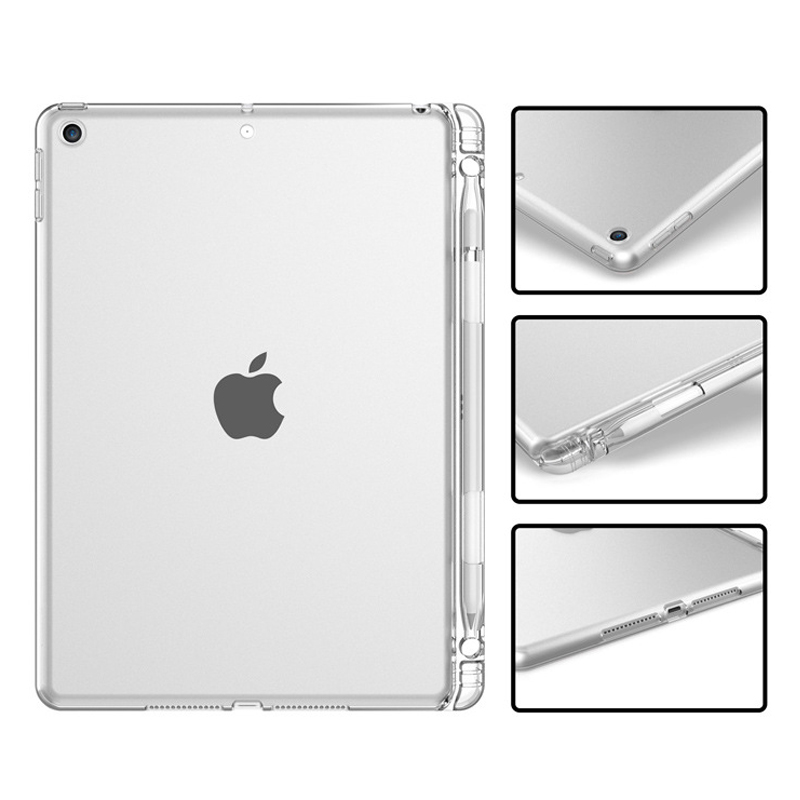 Tablet Case For iPad 10 2 2020 Case Back Silicone Tablet Cover With Pen Slot For