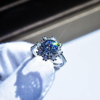 Prawdziwe S925 srebro biżuteria naturalne 2 karaty diament kamień pierścień dla kobiet Anillos De srebrny 925 biżuteria Bizuteria pierścionki tanie i dobre opinie HOYON SILVER 925 sterling CN (pochodzenie) Kobiety Diamond Marquise Kształt GDTC Invisible ustawienie S925 sliver ring jewelry for women