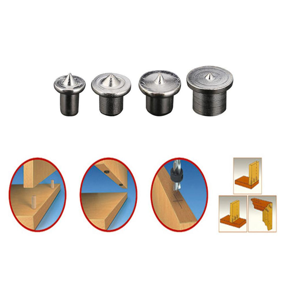 6/8/10/12mm Woodworking Dowel Centers Tenon Alignment Tools Points Marker Solid Dowel Pins Center Point Set Wood Working