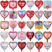 Globos con forma de corazón para el día de la madre, 50 Uds.