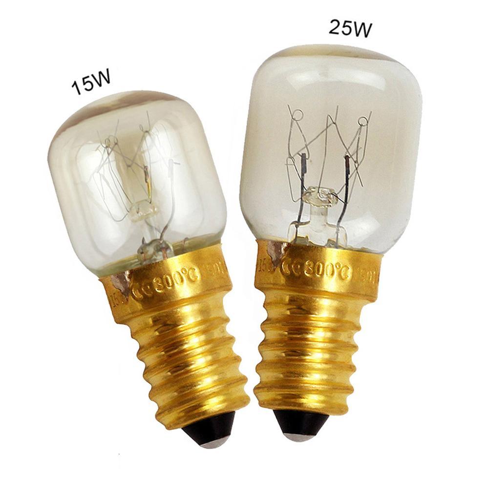 220V High Temperature Bulb 15W 25W E14 300 Degree Microwave Oven Light Bulbs Cooker Tungsten Filament Lamp Bulbs Salt Light Bulb