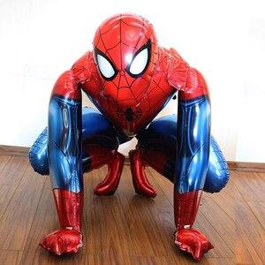 Big 3D Foil Spiderman Balloon iron Man Batman Birthday Party Decoration Children's Toy baby shower balloon cartoon Air Globos(China)