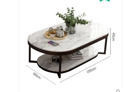 Boreal Европа Современная мраморная Настольная Ваза чайный стол сочетает в себе сокращенную эллиптическую двухслойную Настольная Ваза чайный стол гостиная в помещении - Цвет: 1