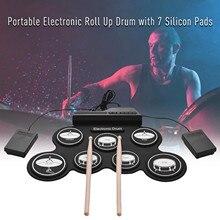 USB скрученные вручную электронный высококачественный силикон скрученные вручную барабан трехмерный узор электронный барабан развивающая ...