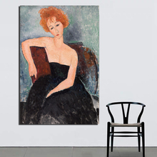 Amedeo Modigliani Girl In Evening Dress Canvas Painting Print Living Room Home Decor Modern Wall Art Oil Painting Poster Picture поло print bar watchtower in evening