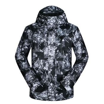 MUTUSNOW Ski Jacket Waterproof Windproof Snowboarding Jackets for Men Warm Breathable Snowboard Coat Ski Jacket
