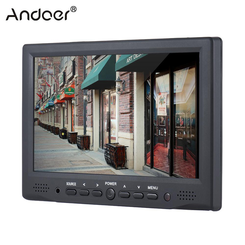 "Andoer AD 701 Monitor 7"" Professional Digital Field Monitor 800*480 HD LCD Display 400cd Monitor for DSLR Full HD Camera-in Photo Studio Accessories from Consumer Electronics    1"