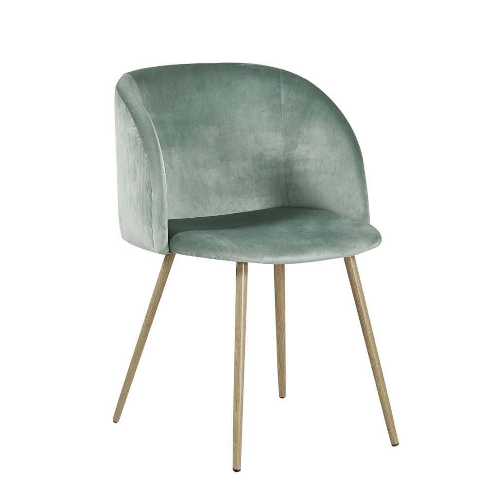 EGGREE Aloe Velvet Leisure Chair For Dining Room, Bedroom And Living Room - Cactus - 2-8days EU Warehouse