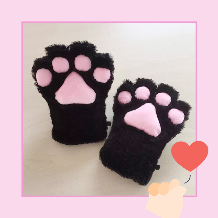 Freee Shipping COS Anime Cat claw gloves maid catwoman Lolita soft cute