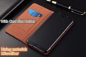 Image 3 - High end lizard pattern natural leather case card slot holder for Xiaomi Mi A3/Xiaomi Mi A2/Xiaomi Mi A1 magnetic phone case