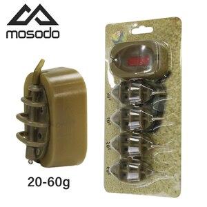 Mosodo Carp Fishing Method Feeder Mould 15g 20g 25g 35g 30g 40g 50g 60g Inline Feeders High Capacity lead sinker Bait Thrower(China)