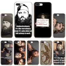 For Huawei Honor 6 6A Play 7X V10 V8 7A 7C Mate 7 8 P9 Plus Y3II Y3 2016 Silicone Shell Case Duck Dynasty fashion TV show(China)