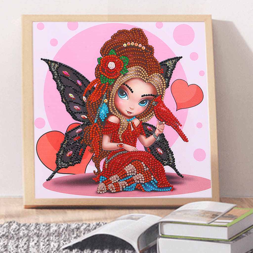 5D Diamond Painting Angel Partial Drill Special Shaped Crystal Rhinestone Diamond Art Kits for Adults and Kids Home Wall Decor