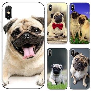 Funda de teléfono de silicona barata Animal lindo perro Pug para Samsung Galaxy J1 J2 J3 J4 J5 J6 J7 J8 Plus 2018 Prime 2015 2016 2017