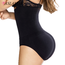 VASLANDA Women Butt Lifter Shapewear High Waist Cincher Briefs Body Shaper Girdle Faja Tummy Control Panties Slimming Underwear