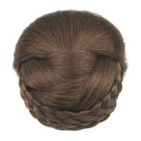 Soowee 6 Colors Braided Hair Chignon Synthetic Hair Bun Donut Fake Hair Bun for Women Donas Para Cabello Afro Bun