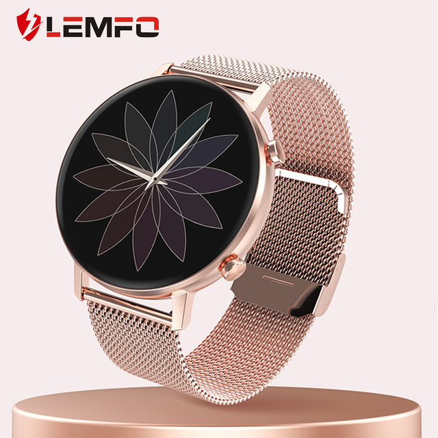 LEMFO DT96 Smart Watch Women Full Touch Screen 360*360 Resolution Heart Rate Blood Pressure Oxygen for Android IOS 1