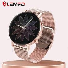 LEMFO DT96 montre intelligente femmes plein écran tactile 360*360 résolution fréquence cardiaque pression artérielle oxygène pour Android IOS