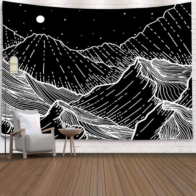 Psychedelic Starry Sky Tapestry Art Wall Hanging Home Blanket Decor Tapestry Home Decor Tapestries