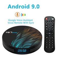 Dispositivo de TV inteligente HK1 Max, decodificador con Android 128, 4GB, 32GB, 64GB, 9,0 GB, Rockchip, 4K, Wifi, Netflix, reproductor multimedia, 2GB, 16GB