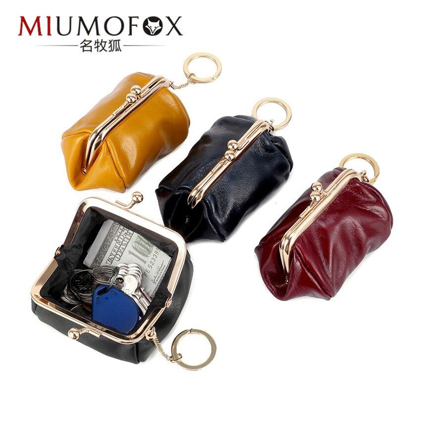 Мини-кошелек для женщин, простой Дамский бумажник на молнии из натуральной кожи