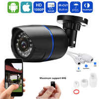Security Camera 1080P HD IP Camera Waterproof Outdoor Surveillance Camera Built in SD Card Slot IRCUT  Night Vision Camhi APP