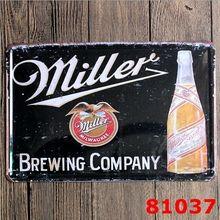 Металлический жестяной знак художественная пивоваренная компания