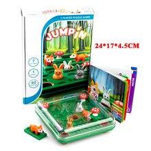 Bunny Bouncing Game Kids Puzzle Board warcaby zabawka zabawny królik Fox przeprowadzka strategia Tabletop prezent dla dzieci rozwój mózgu